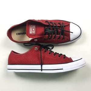 Converse W 12 M 10 Red Woven Chuck Taylors A44